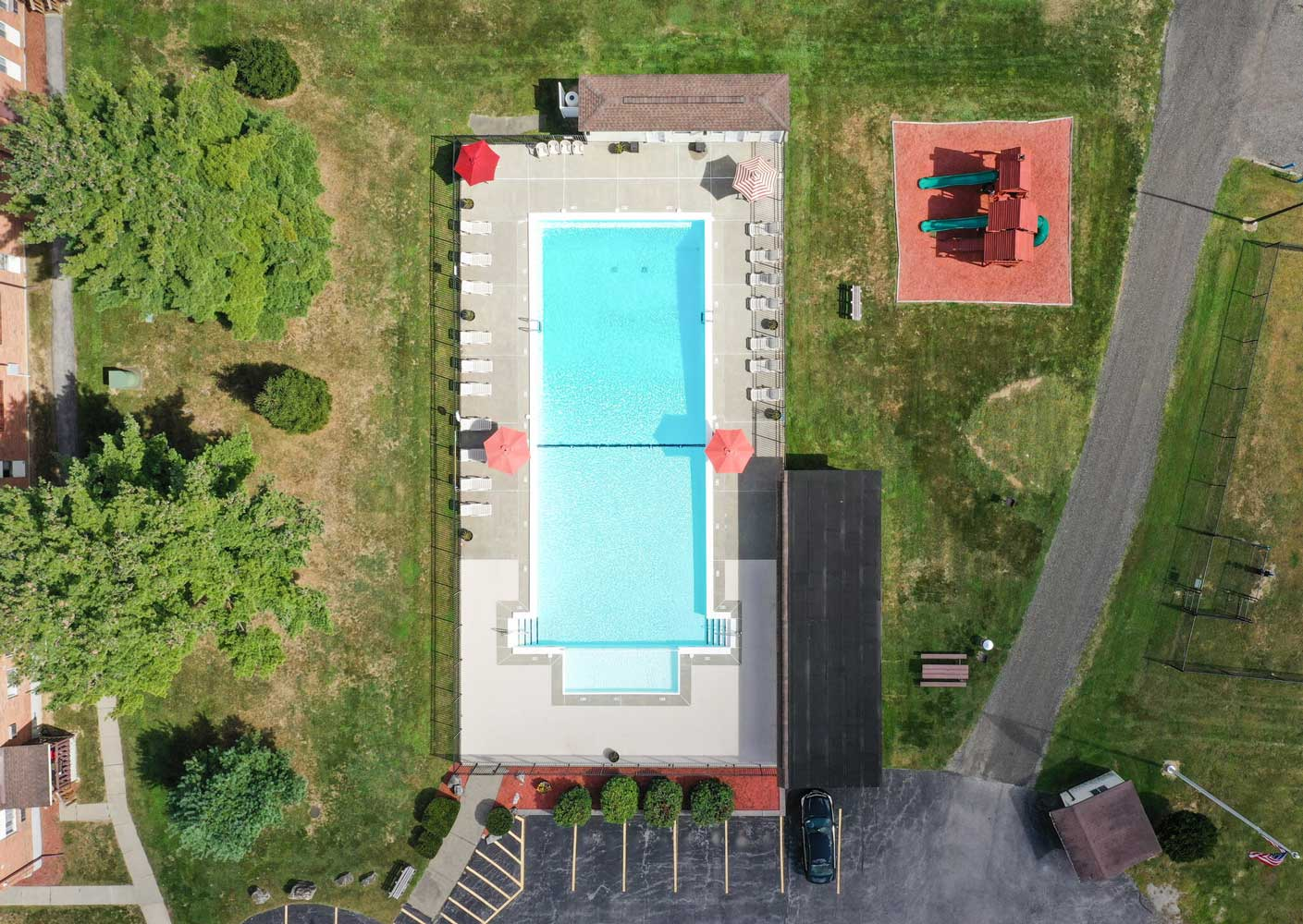 Aerial View of Mountainview Gardens Apartments in Fishkill, NY