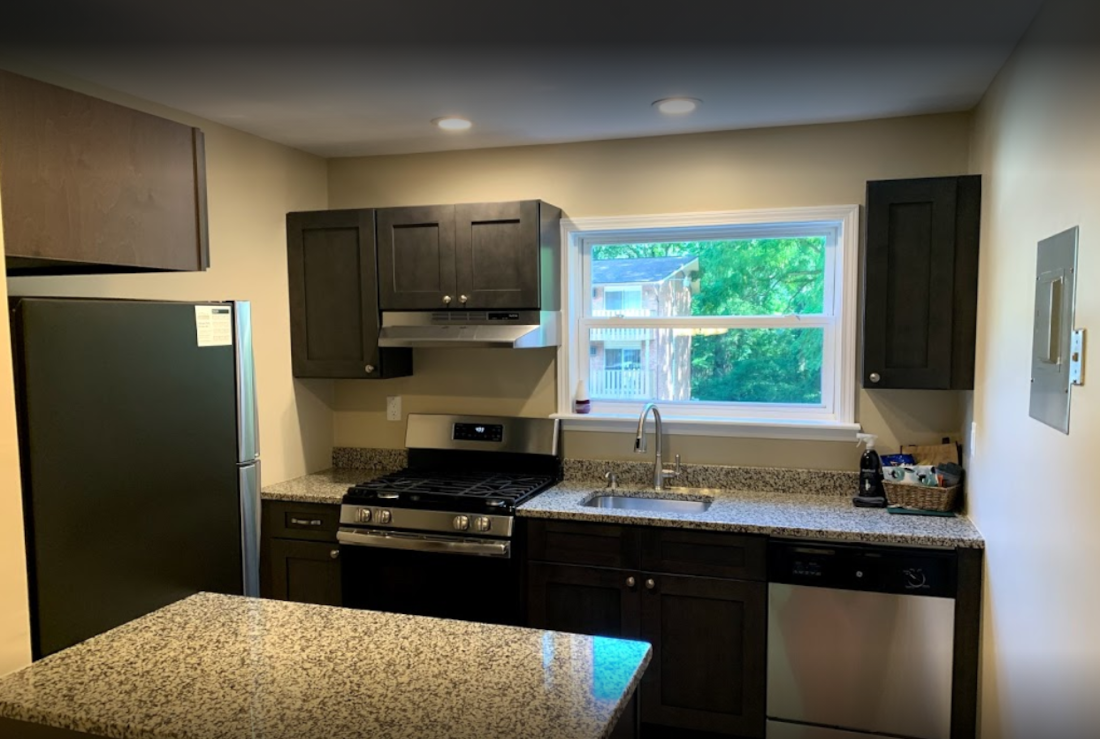 Newly Renovated Kitchen at Mountainview Gardens Apartments in Fishkill, NY