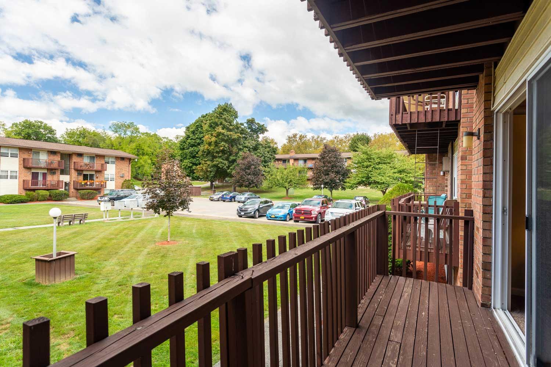 Balcony at Mountainview Gardens Apartments in Fishkill, NY