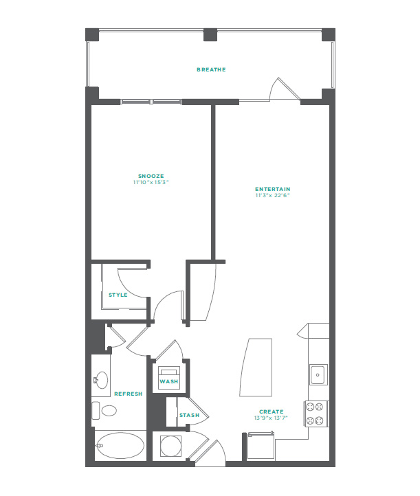 M South - Floorplan - A2A