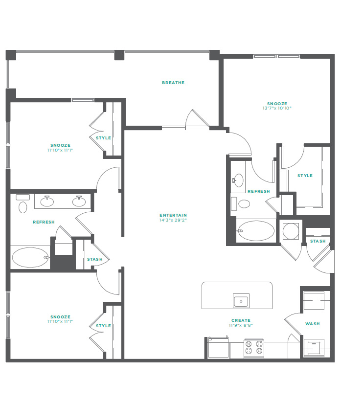 M South - Floorplan - C1