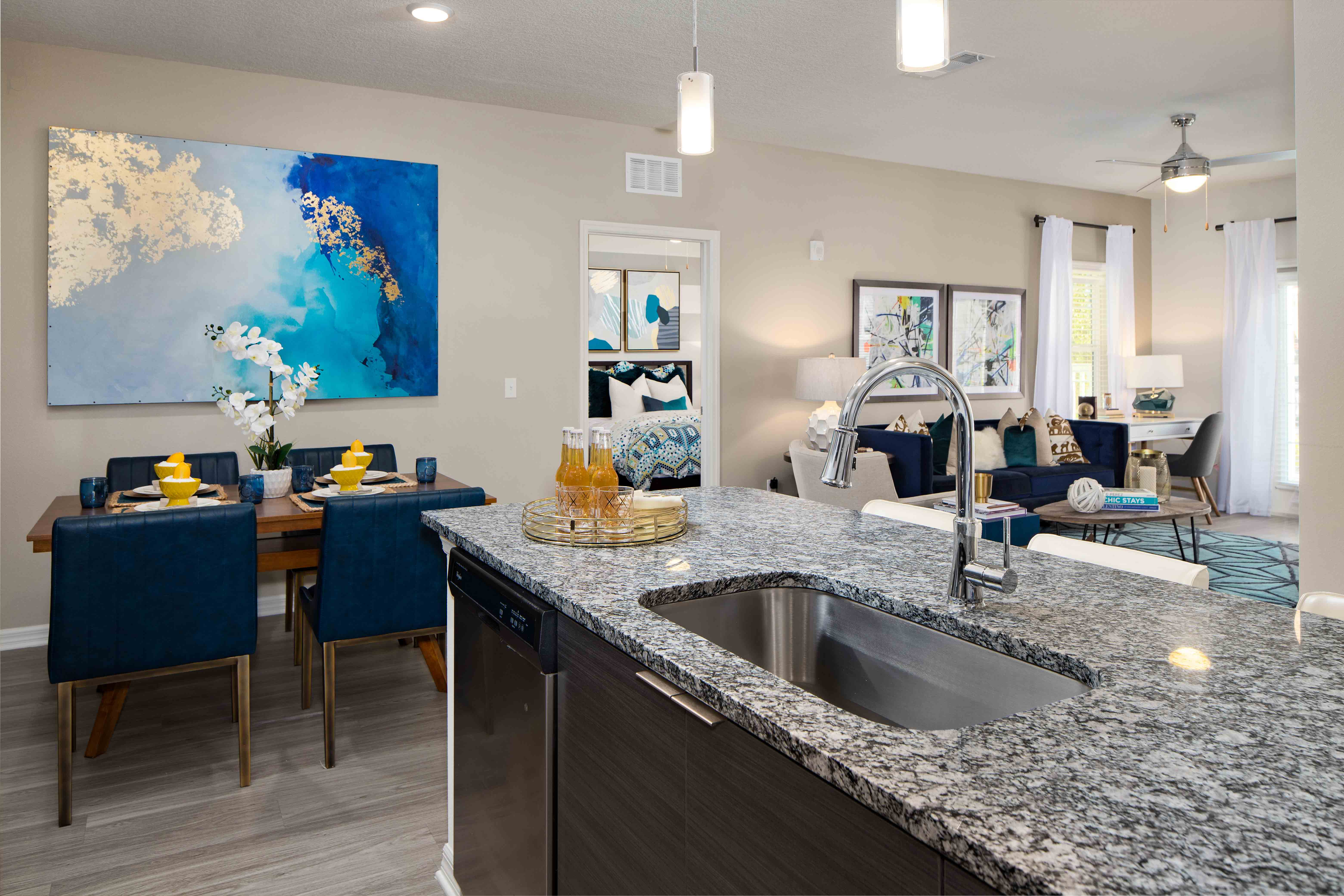 Dining Room at M South Apartments in Tampa, Florida