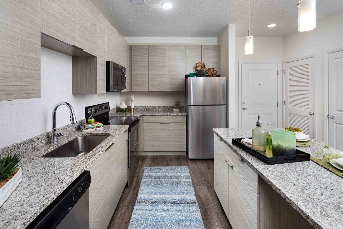 Luxurious Kitchen at M South Apartments in Tampa, Florida
