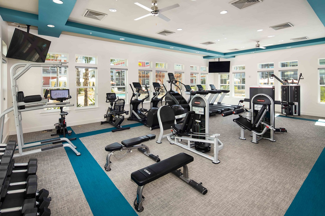 Fitness Center at M South Apartments in Tampa, Florida