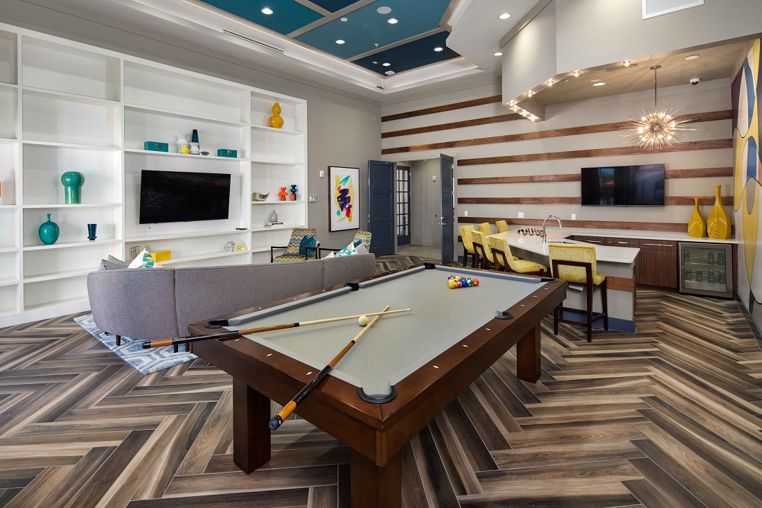 Entertainment Center at M South Apartments in Tampa, Florida