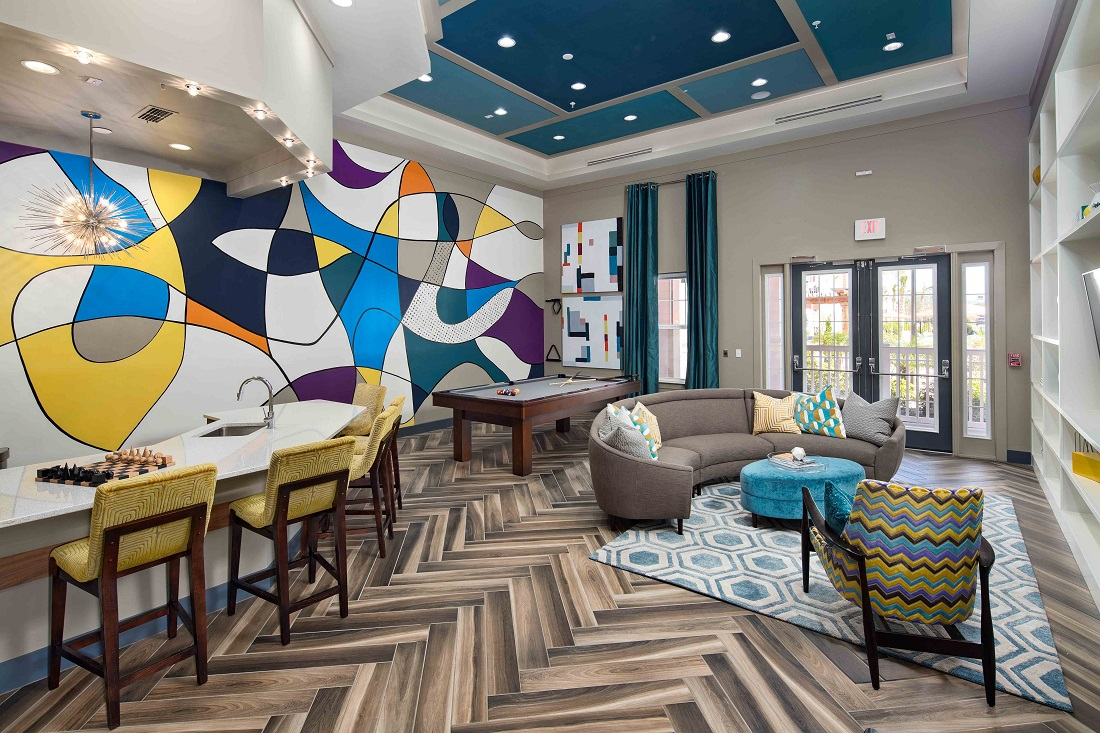 Game Room at M South Apartments in Tampa, Florida