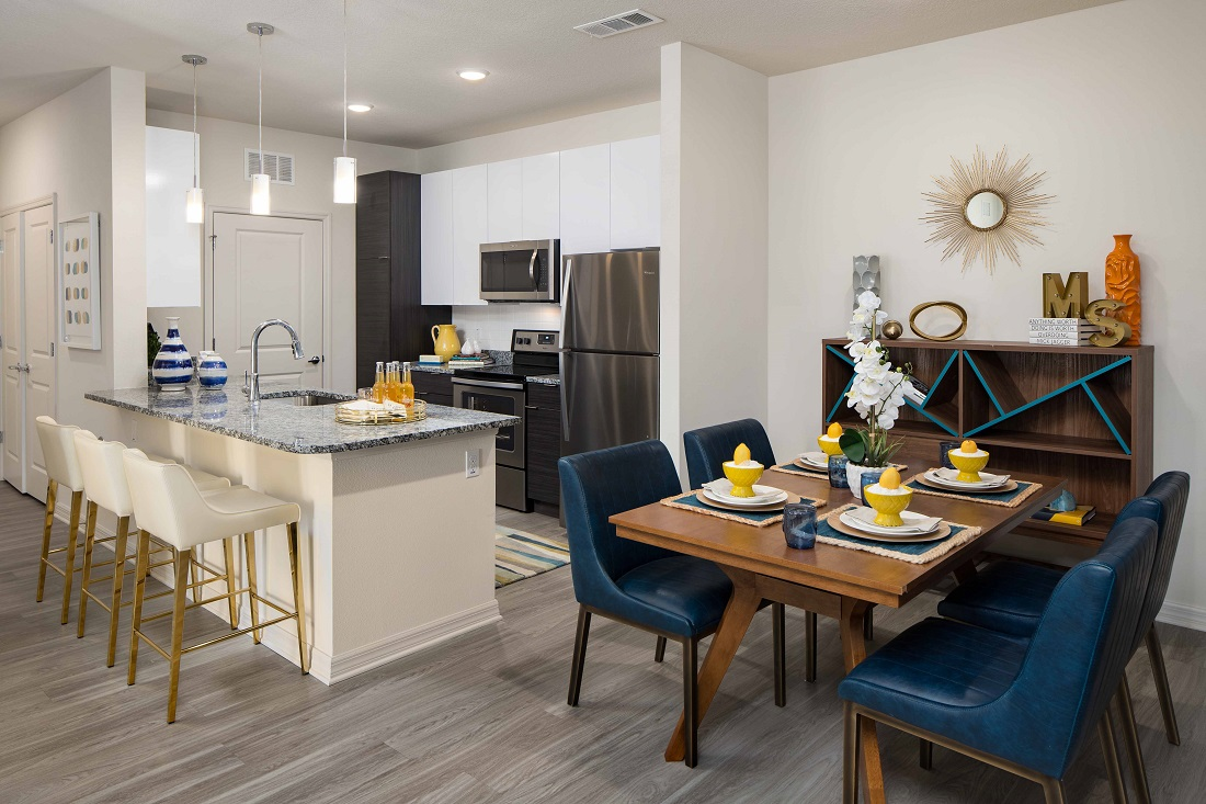 Open Kitchen Layout at M South Apartments in Tampa, Florida
