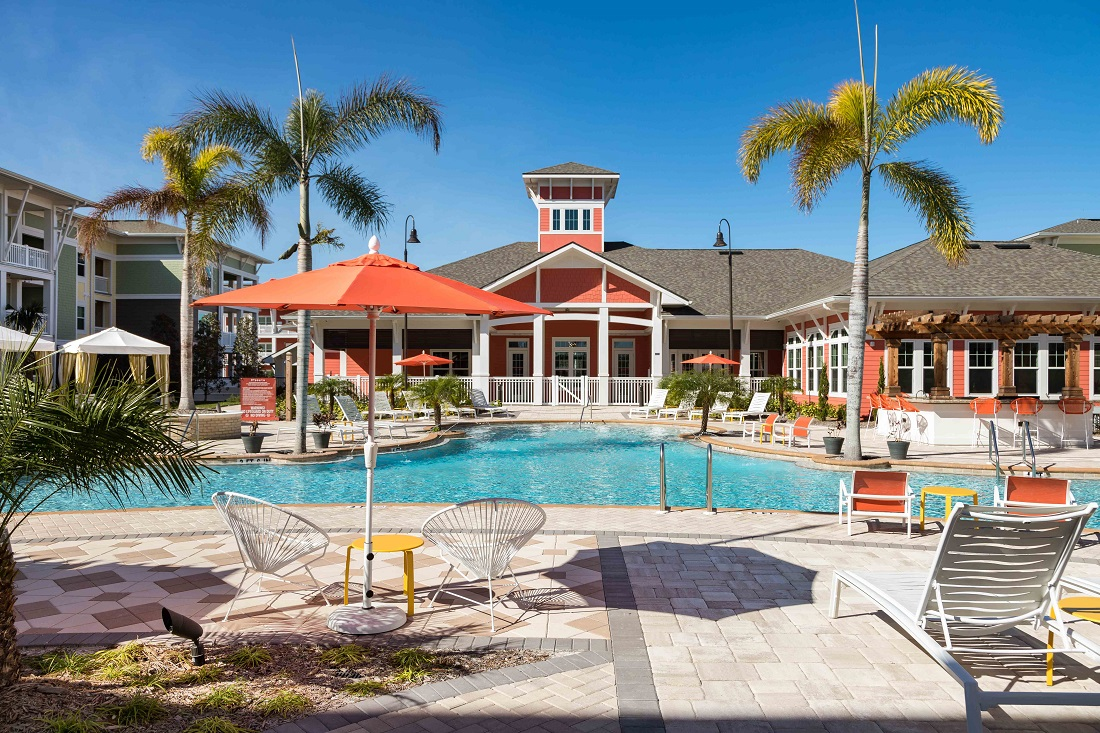 Resort-Style Pool at M South Apartments in Tampa, Florida