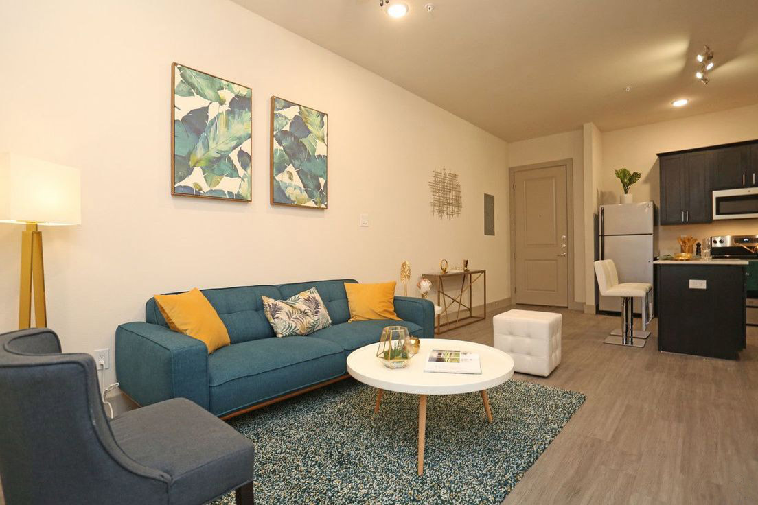One Bedroom Floor Plans at Mt. Vernon Lofts Apartments in Houston, Texas