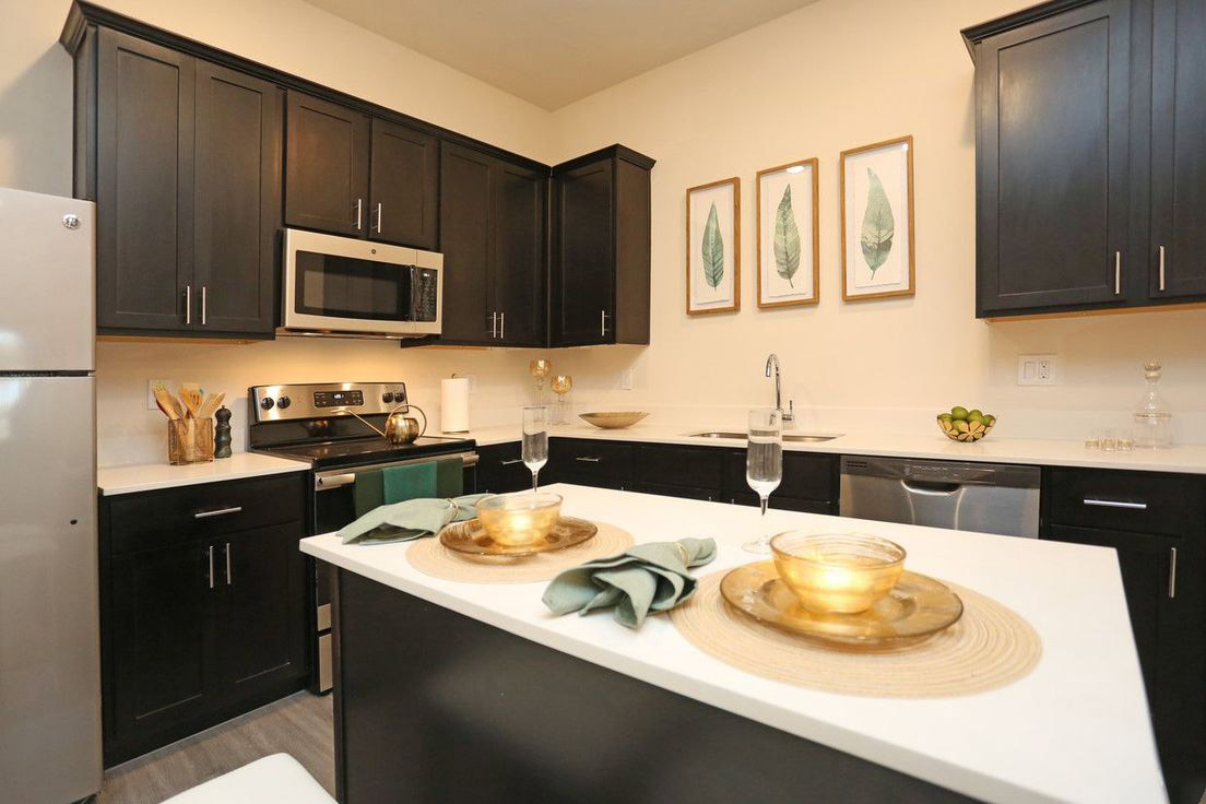 Fully Equipped Kitchen at Mt. Vernon Lofts Apartments in Houston, Texas