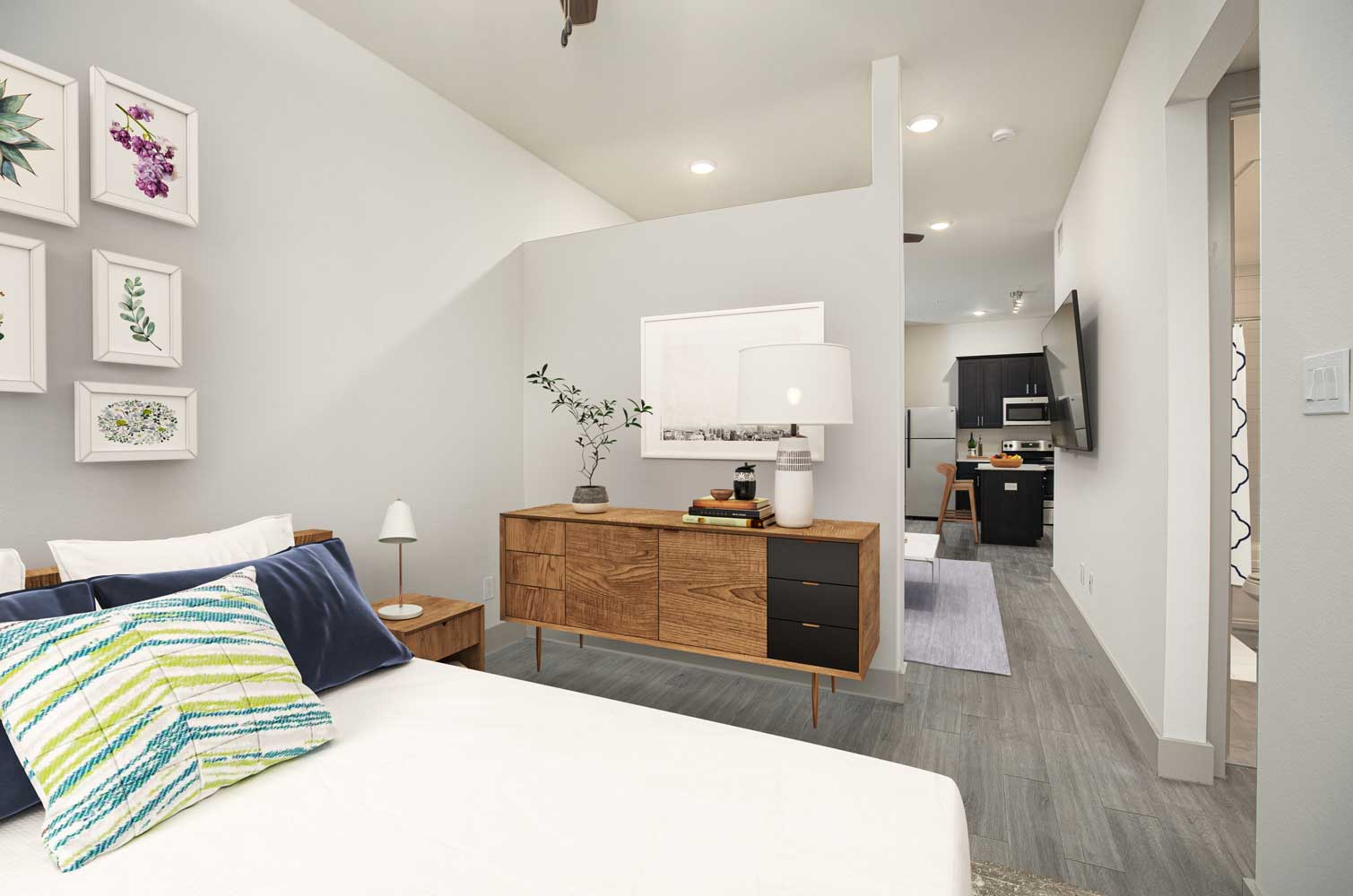 Large Bedroom at Mt Vernon Lofts Apartments in Houston, TX