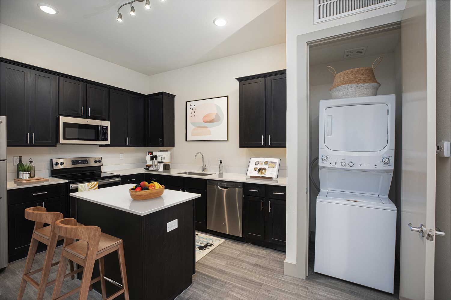Fully Equipped Kitchen at Mt Vernon Lofts Apartments in Houston, TX
