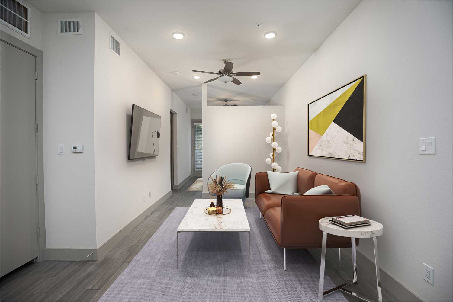 Living Area at Mt Vernon Lofts Apartments in Houston, TX