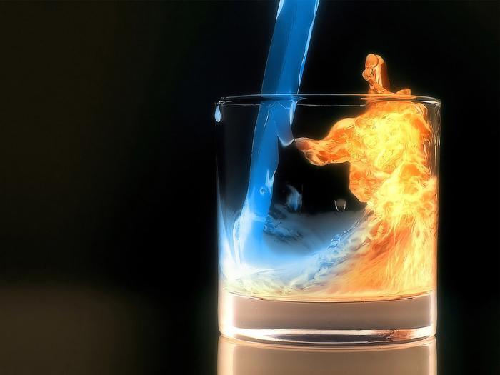 The Elements of Fire, Ice and Water