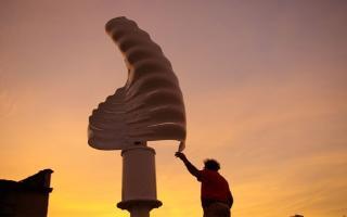 Helix Wind Turbine Powers Home