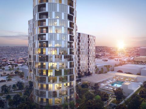 644-Unit Residential Tower Breaks Ground in Koreatown Neighborhood of Los Angeles