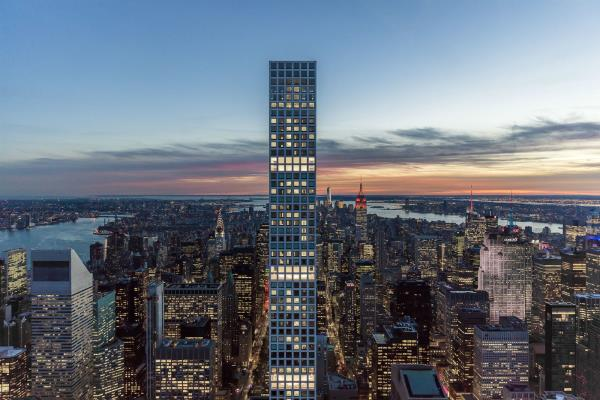 World's Tallest Residential Building Posts Record High Volume in New York City Residential Unit Closings