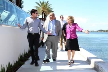 Ceremony at The Flamingo South Beach Apartments Marks Progress of Creating a Public Promenade
