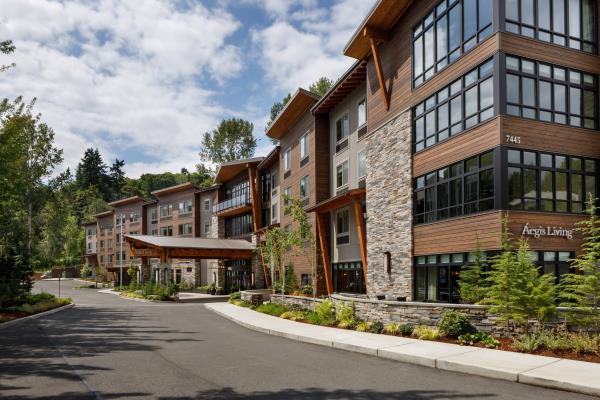 Aegis Living Opens Ski Lodge Inspired Assisted Living Community in Mercer Island, Washington