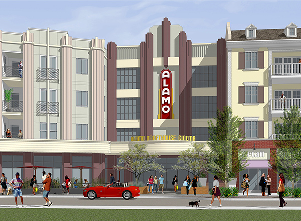 Mixed-Use Live/Work Multifamily Development Anchored by Alamo Drafthouse Cinema Announced