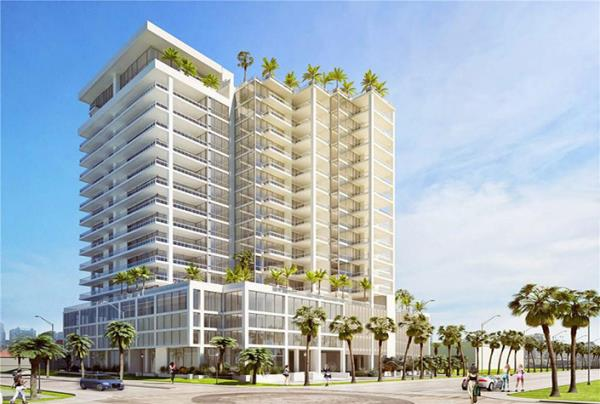 Core Development Underway with New Water View Condominium Project in Sarasota, Florida