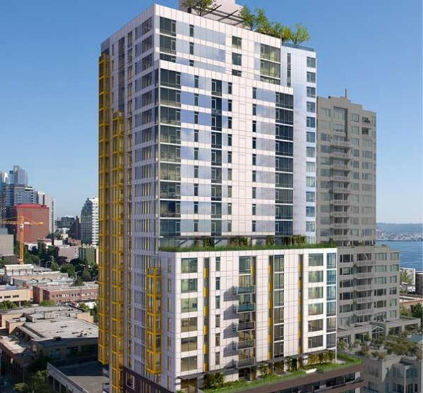 Wood Partners Sells 298-Unit Luxury Apartment Tower in Downtown Seattle to Heitman