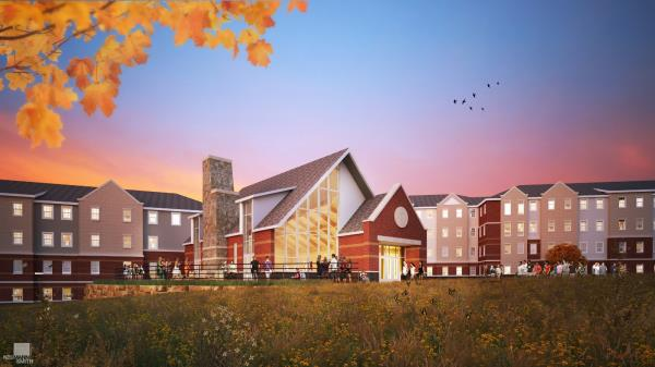 On-Campus Living-Learning Student Community Begins Construction at Northern Michigan University