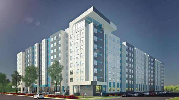 EdR Opens 824-Bed Pedestrian to Campus Community Serving Michigan State University