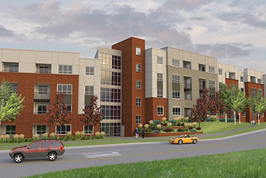 New 265-Unit Luxury Apartment Community Near County Line Light-Rail Station is Under Construction