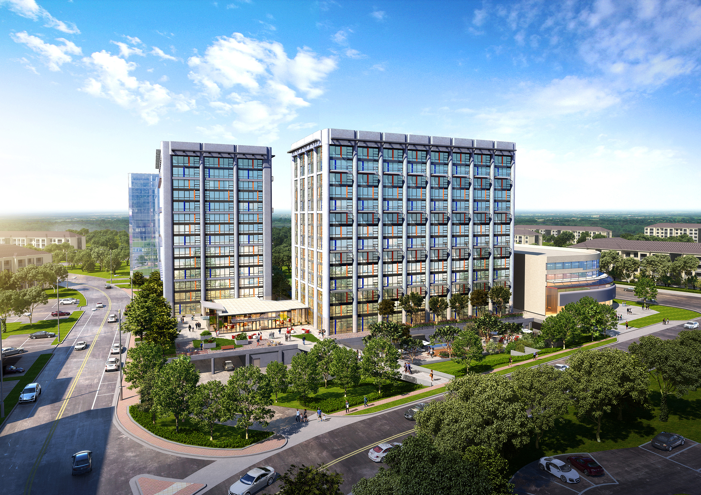 Lowe and USAA Real Estate Begin Construction of Park + Ford Adaptive Reuse of Two Former Office Buildings Into 435 Apartments