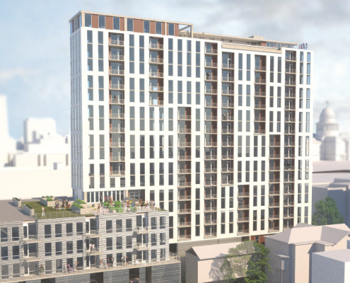 Developer Aspen Heights Tops-Out Its 22-Story Apartment Tower in Downtown Austin, Texas