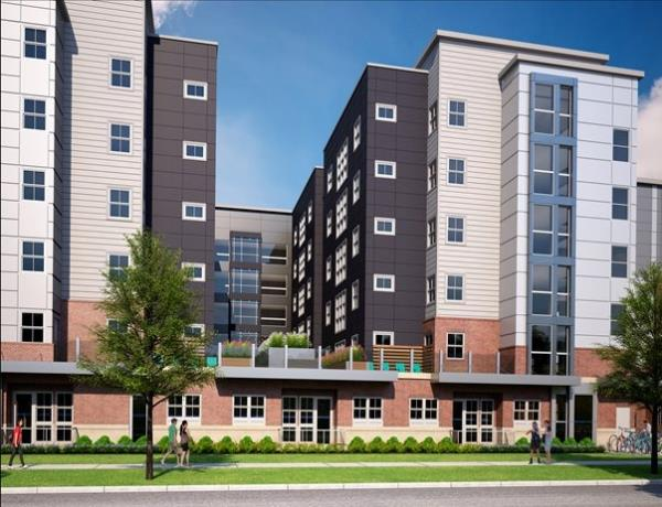 American Campus Communities' Newest Boutique Student Housing Development Going for Gold