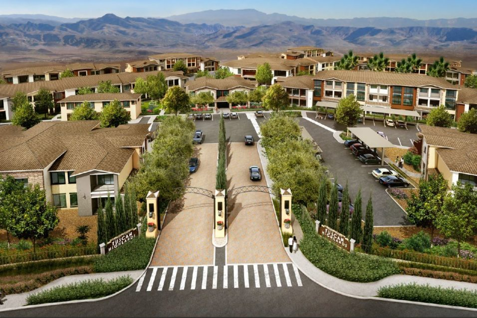 Watt Companies Sells Tuscan Highlands Multifamily Residential Community Located in Foothills of Las Vegas for Record $115 Million