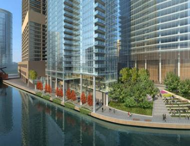 High-Rise Development Featuring 509 Apartment Units Breaks Ground on Riverfront in Chicago, Illinois
