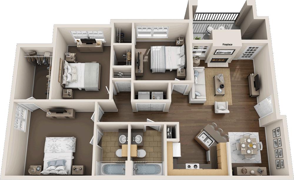 Murdeaux Villas - Floorplan - C2.HC
