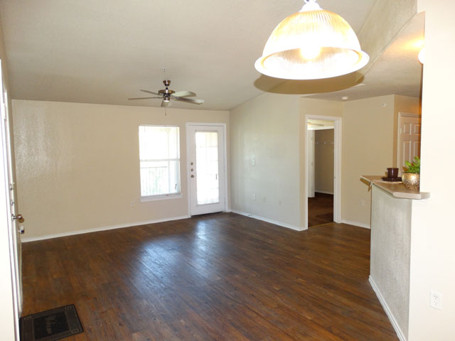 Hardwood Flooring at Murdeaux Villas Apartments in Dallas, TX