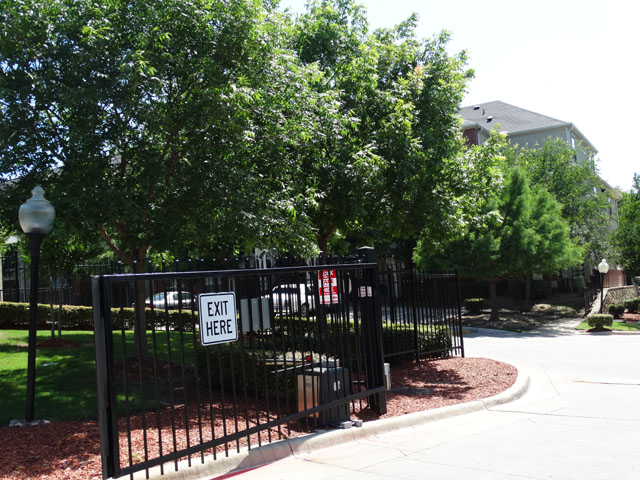 Gated Community at Murdeaux Villas Apartments in Dallas, TX