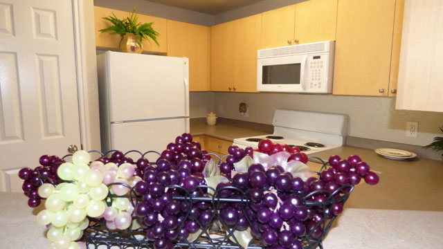 White Electric Appliances at Murdeaux Villas Apartments in Dallas, TX