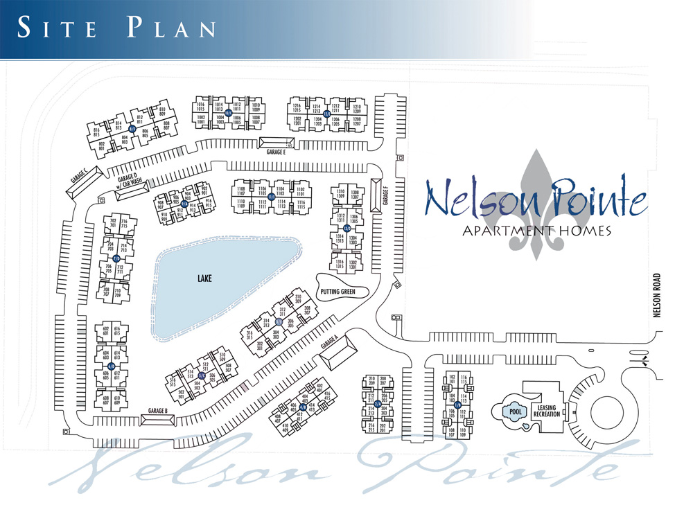 Nelson Pointe Apartment Homes Site Plan