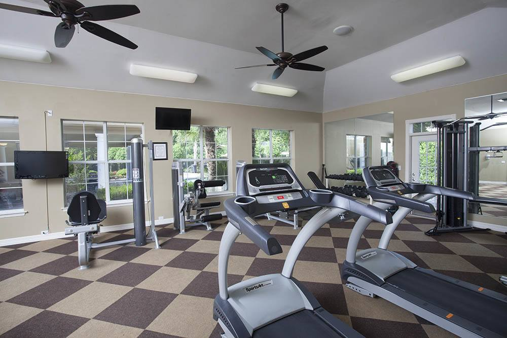 Fitness Center at Nelson Pointe Apartments in Lake Charles, Louisiana