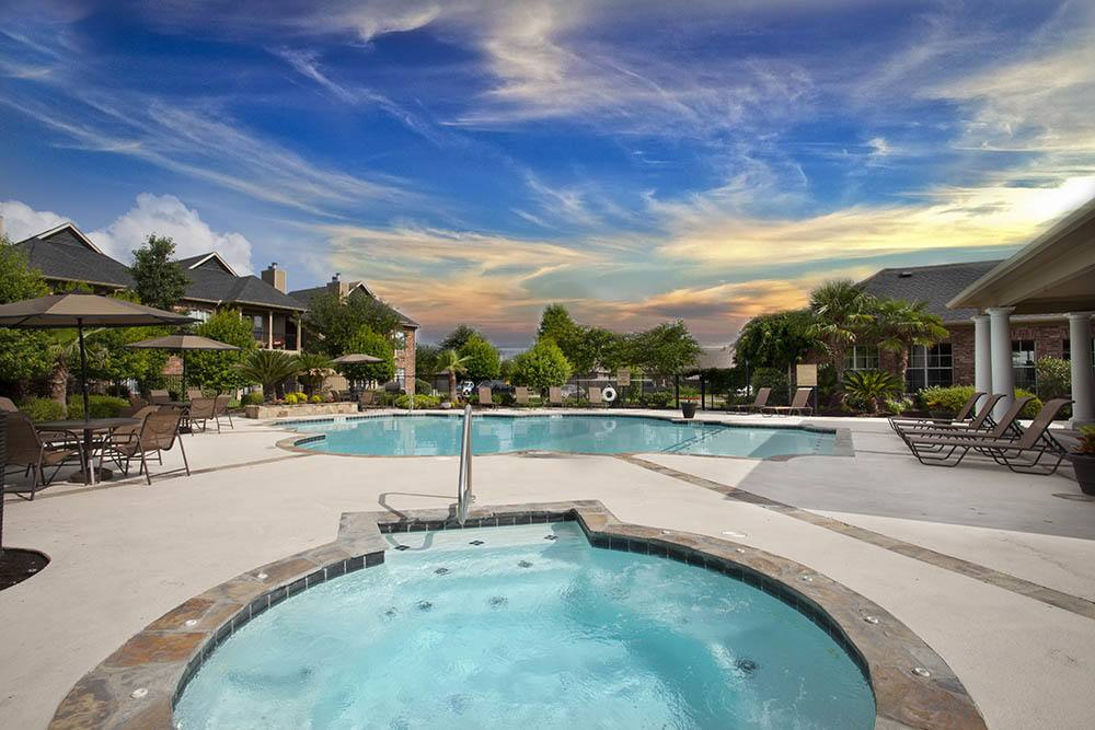 Sparkling Pool at Nelson Pointe Apartments in Lake Charles, Louisiana