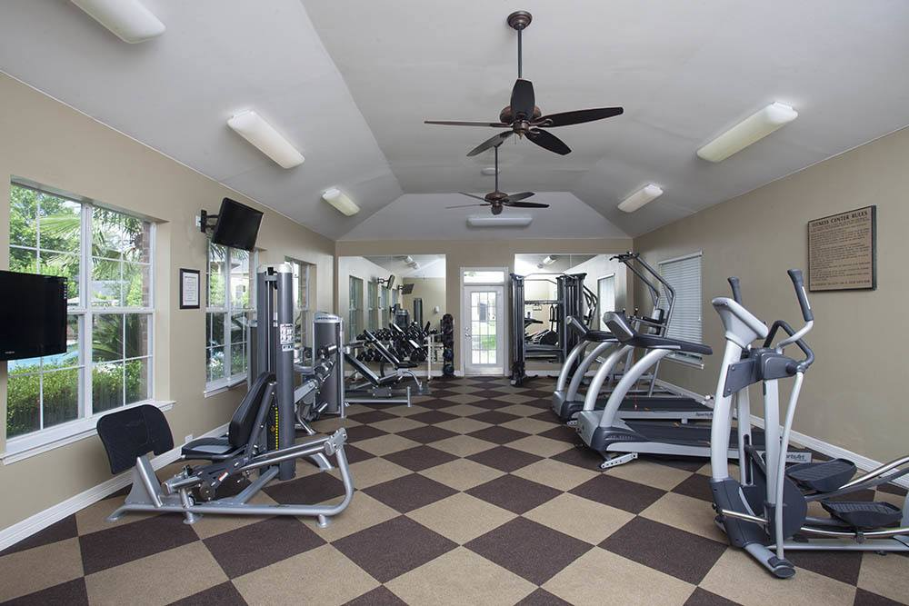 High-Tech Fitness Center at Nelson Pointe Apartments in Lake Charles, Louisiana