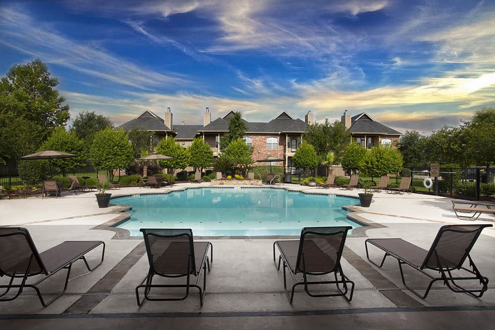 Poolside Lounge at Nelson Pointe Apartments in Lake Charles, Louisiana