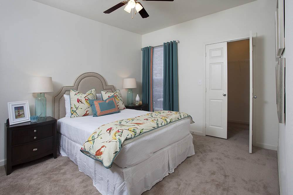 Cozy Bedrooms at Nelson Pointe Apartments in Lake Charles, Louisiana