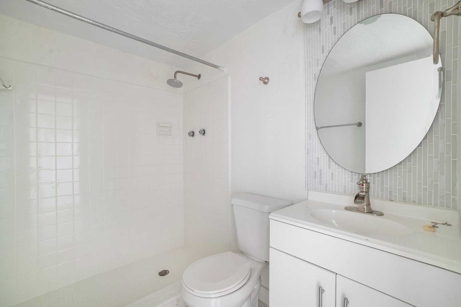 Bathroom with Shower at New Castle Lake Apartments in Miami, FL