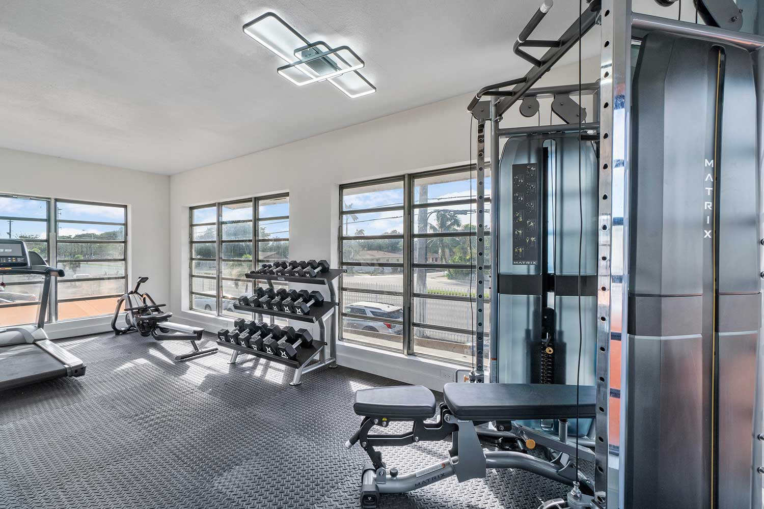 In Demand Fitness Center at New Castle Lake Apartments in Miami, FL