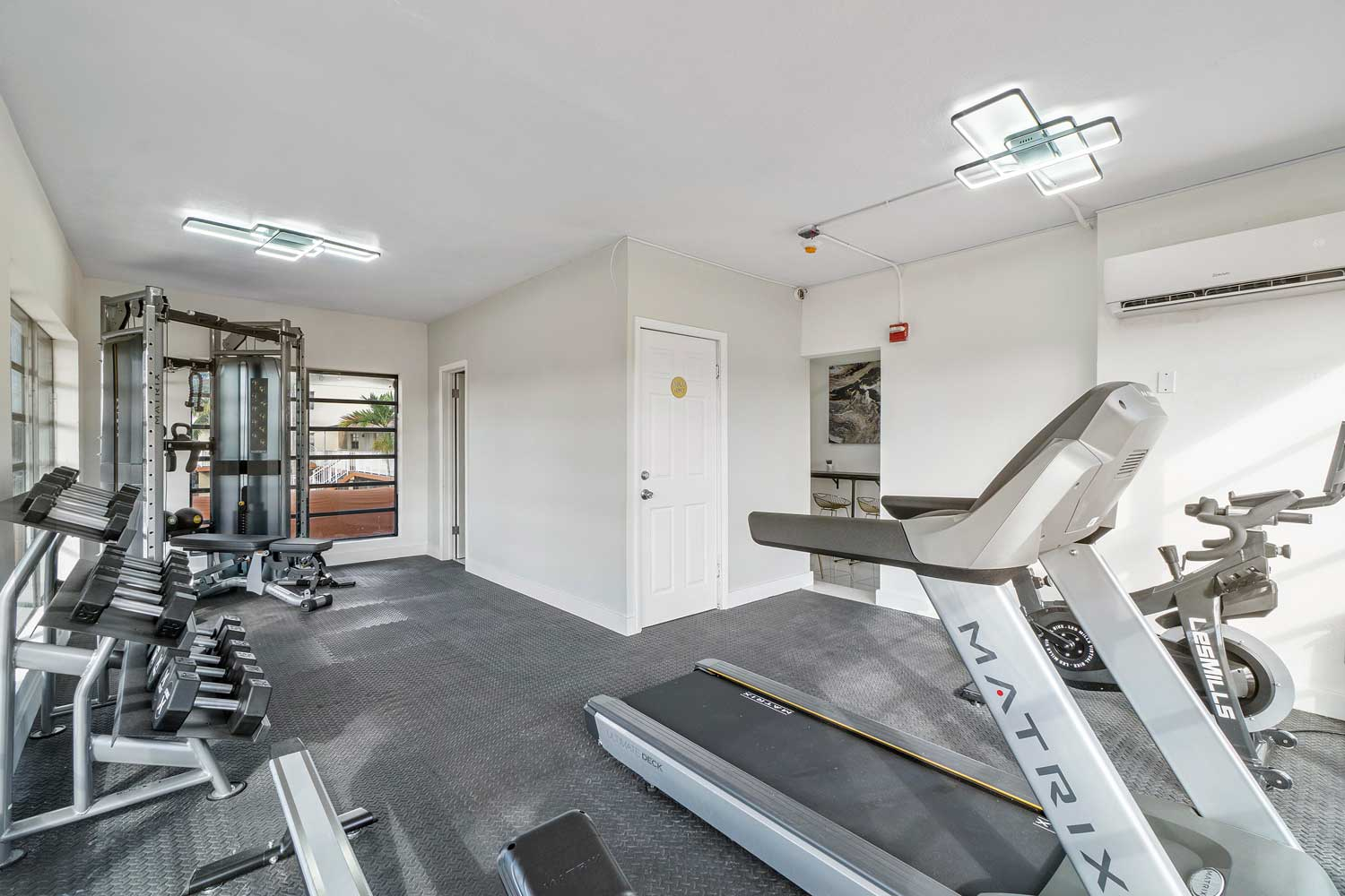 Fitness Center at New Castle Lake Apartments in Miami, FL
