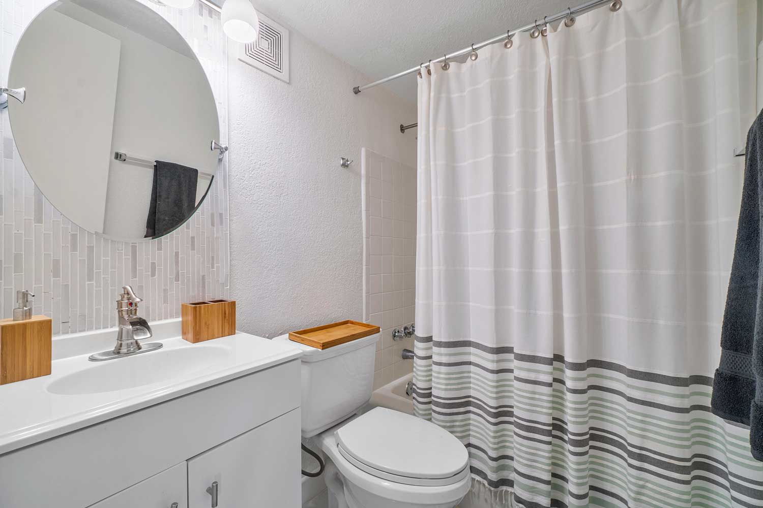Bathroom at New Castle Lake Apartments in Miami, FL