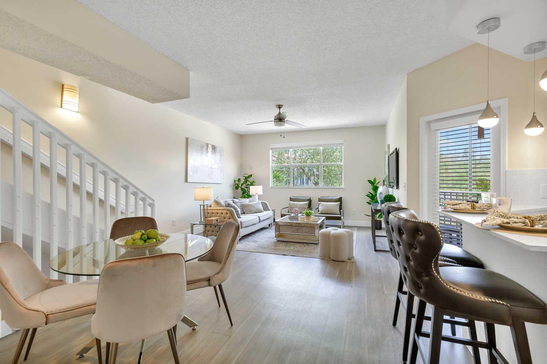 Living Room at New Castle Lake in Miami, FL