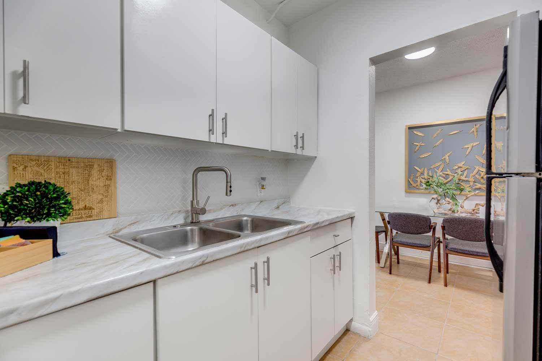 Renovated Kitchens at New Castle Lake in Miami, FL